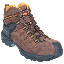 Thorogood Shoes Dual Gender Sizing Men's or Women's:Brown Suede Composite Toe(Non-Steel Safety Toe) Gravity Sport Hiker 804-4020