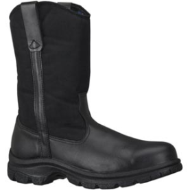 Thorogood Softstreets 10'' Wellington Safety Toe Boots - Black 804-6111