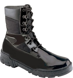 Thorogood 8'' Commando Plus Uniform Boots - Black High Gloss Poromeric and Cordura 831-6823