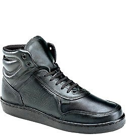 Thorogood Men's Code 3 Mid Cut Shoes - Black Leather 834-6444