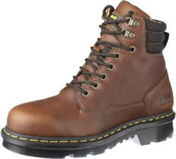 Dr. Martens Mens Industrial Steel Toe Derby Leather Work Boots