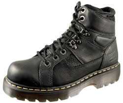 Dr. Martens Mens Ironbridge Black Industrial Grizzly Boots