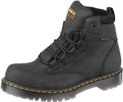 Dr. Martens Mens Hardwick Black Industrial Greasy Boots