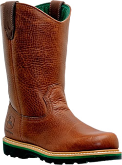 John Deere Men's 11'' Work Wellington Boots - Walnut Leather JD4193