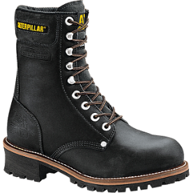 Caterpillar P88033 Logger 9'' Steel Toe Boots - Black