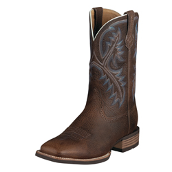 Ariat Men's Quickdraw Western Boots - Brown Oiled Rowdy 10006714