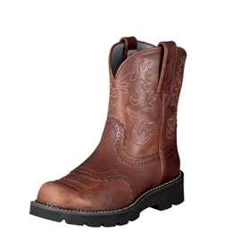 Ariat Women's Fatbaby Scalloped Saddle Western Boots - Russet Rebel 10000860