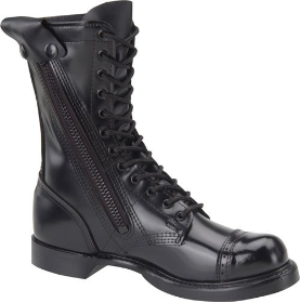 "Corcoran Men's 10"" Side-Zipper Jump Boot with Jump Boot Outsole-Black Leather 995"