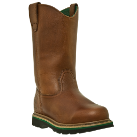 John Deere Men's 11'' Work Safety Toe Wellington Boots - Walnut Leather JD4393