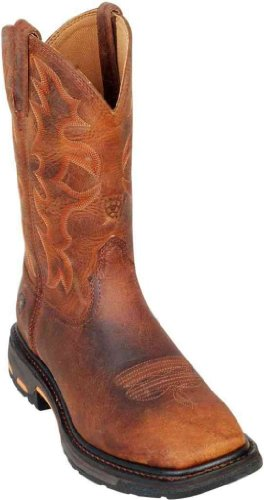 Ariat Men's Workhog Work Boots Wide Square Toe: Non-Steel Toe Toast Premium 10007043