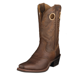 Ariat Men's Heritage Roughstock Square Toe- Brown Oiled Rowdy 10002227