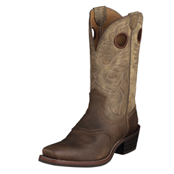 Ariat Men's Heritage Roughstock Square Toe- Earth 10002230