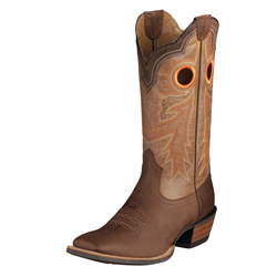 Ariat Wildstock Men's Western Boots - WeatheredBrown/Quartz 10005876