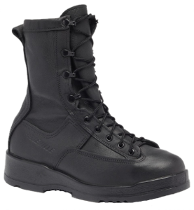 Belleville Mens Waterproof Steel Toe Flight Deck Boots-Black 800 ST