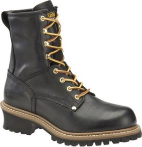 "Carolina Men's 8"" Plain Toe Logger-Black CA825"