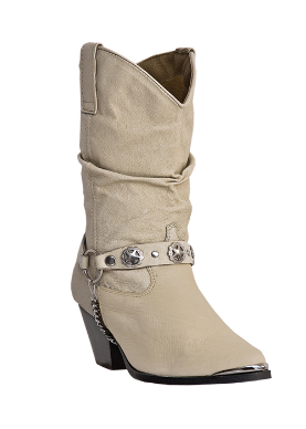 "Dingo Women's Slouch Fashion Western Boots -""Olivia""  Tan DI526"