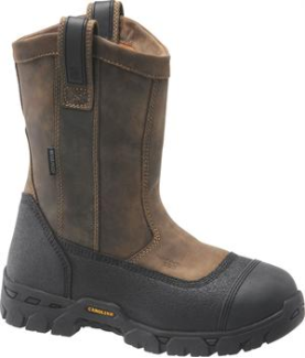 "Carolina Men's 10"" Waterproof Composite Broad Toe Wellington-Brown CA5533"