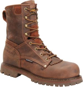 "Carolina Men's 8"" Grizzly Waterproof EH Rated Work Boot-Brown CA8028"