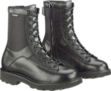 "Bates Men's 8"" Durashocks Lace-to-Toe Side Zip Boot-Black - E03140"