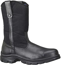 Thorogood Men's SoftStreets 10'' Wellington Non-Safety Boots - Black Leather/Denier Cordura Shaft 834-6211