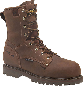 "Carolina Men's 8"" Waterproof insulated Work Boot - Brown CA9028"