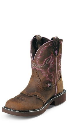Justin Women's Gypsy Collection - 8'' Aged Bark Boots with Steel Toe WKL9980