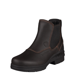 Ariat Women's Barn Yard Twin Gore H2O-Dark Brown 10003574