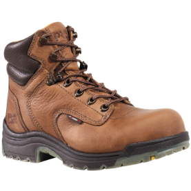 "Timberland PRO Women's Titan 6"" Safety-Toe Work Boots - Coffee Full Grain 26388"