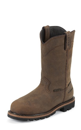 "Justin Original Workboots Men's Worker II - 10"" Wyoming Waterproof Round Toe - WK4630"