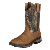 Ariat Men's Workhog Wide Square Toe Boots: Oiled Brown/Mossy Oak 10006741 (SKU: 10006741)