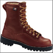 "Danner Men's Rain Forest Plain Toe 8"" Work Boot - Brown 10600"