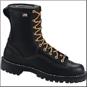 "Danner Men's/Women's Rain Forest Plain Toe 8"" Work Boot - Black 14100"