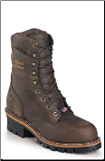 "Chippewa Men's 9"" Bay Apache Waterproof Steel Toe Logger Boot 25407 (SKU: 25407)"