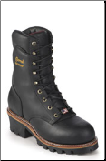 "Chippewa Men's 9"" Black Oiled Waterproof Steel Toe Logger Boot 25410 (SKU: 25410)"
