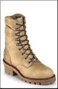 "Chippewa Men's 9"" Golden Tan Waterproof Logger Boot 25415 (SKU: 25415)"