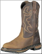 "Rocky Men's 11"" Branson Roper Boot - Aztec Crazy & Bridle Brown 2732"