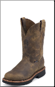 Justin Men's Pull On Work Boots: J-Max Boots- Rugged Tan Gaucho, Round Toe 4440