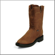 "Justin Men's 10"" Pull-On Boots - Aged Bark 4760 (SKU: 4760)"