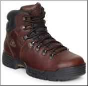 "Rocky Men's 5"" Steel Toe Work Boot - Deer Brown Soggy 6114"