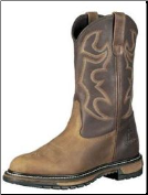 Rocky Men's Branson Steel Toe Roper Boot - Aztec Crazyhorse Leather / Bridle Brown 6732