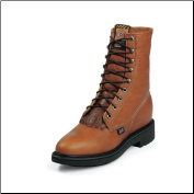 "Justin Men's 8"" Lacer-R Boots - Copper Caprice 762 (SKU: 762)"