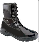 Thorogood 8'' Commando Plus Uniform Boots - Black High Gloss Poromeric and Cordura 831-6823 (SKU: 831-6823)