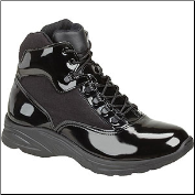 Thorogood Cross-Trainer Plus Uniform Boots - Black High-Gloss Poromeric and Cordura 831-6833