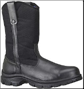 Thorogood Men's SoftStreets 10'' Wellington Non-Safety Boots - Black Leather/Denier Cordura Shaft 834-6211 (SKU: 834-6211)