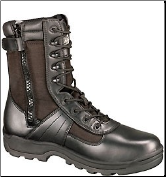 Thorogood 8'' Waterproof Side-Zip Boots - Black Leather 834-6219
