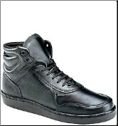Thorogood Men's Code 3 Mid Cut Shoes - Black Leather 834-6444 (SKU: 834-6444)