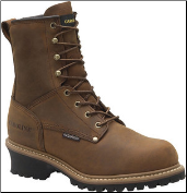 "Carolina Men's 8"" Waterproof Insulated Plain-Toe Logger Boots - Brown CA4821 (SKU: CA4821)"