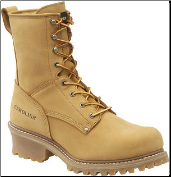"Carolina Men's 8"" Waterproof Insulated Steel Toe Logger-Wheat CA5826 (SKU: CA5826)"
