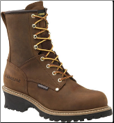 "Carolina Men's 8"" Waterproof Steel Toe Logger Boots - Brown CA9821 (SKU: CA9821)"
