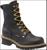 "Carolina Men's 8"" Waterproof Plain-Toe Logger Boots - Black CA8823"